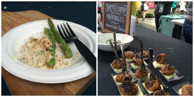Two of the many delicious dishes we were treated to post race