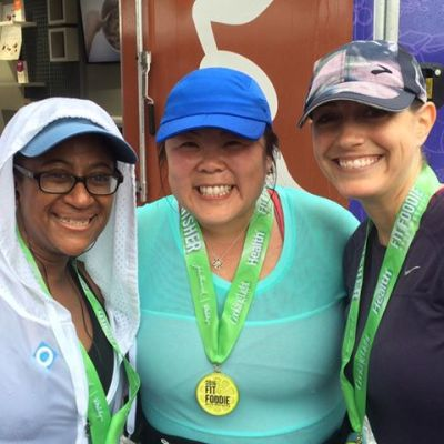 At the finish line with Mar and Jenny