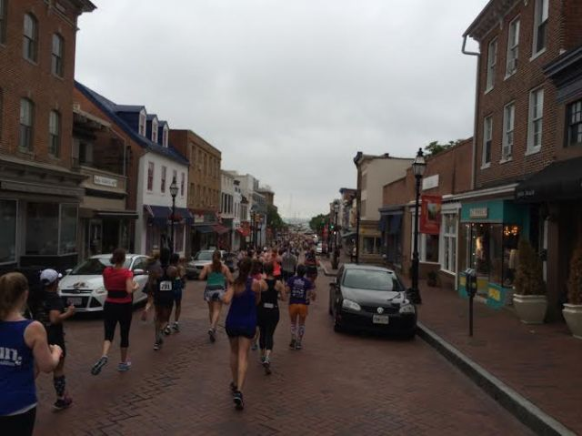 Running towards the waterfront was one of my favorite parts of the ZOOMA Annapolis course
