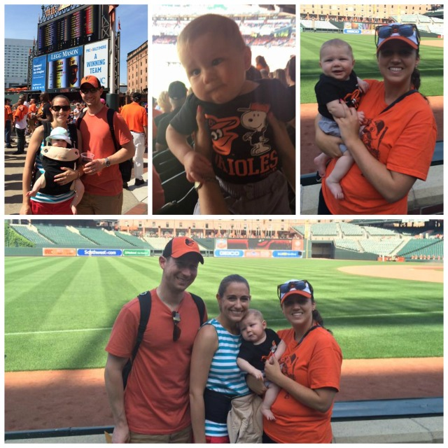 We had a fabulous day at Camden Yards for little man's first baseball game!