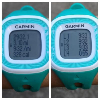 Not only was my Thursday night run speedy, but I was quite consistent with my pace too