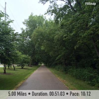 I completed my first long run of this training cycle yesterday on the trail in my hometown.