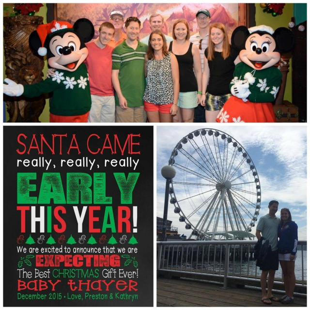 At Disney World with my in-laws, our pregnancy announcement, and sightseeing in Seattle