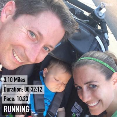 We had a great evening run together, even if little man decided to nap during the run