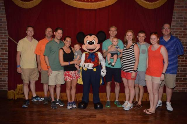 Our gang of 11 with Mickey last Sunday