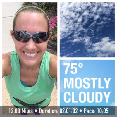 The perfect running weather on Saturday helped me to maintain a speedy for me pace.