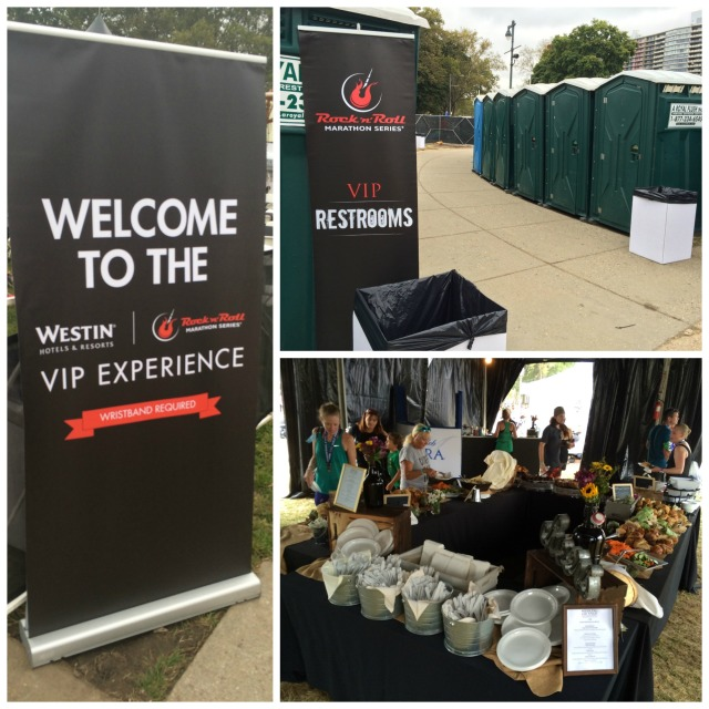 The private porta potties and post race spread were great VIP perks for this race
