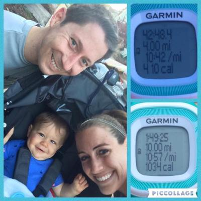 Running with the stroller definitely slows me down, but its also nice to be able to enjoy time with my two favorite guys while out running