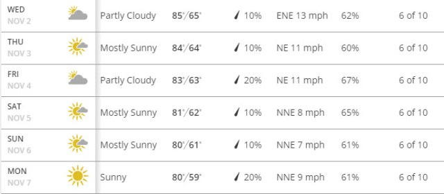 This forecast could not be any more perfect!