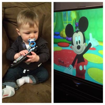 We spent quite awhile last night cuddling on the couch watching Mickey Mouse Clubhouse