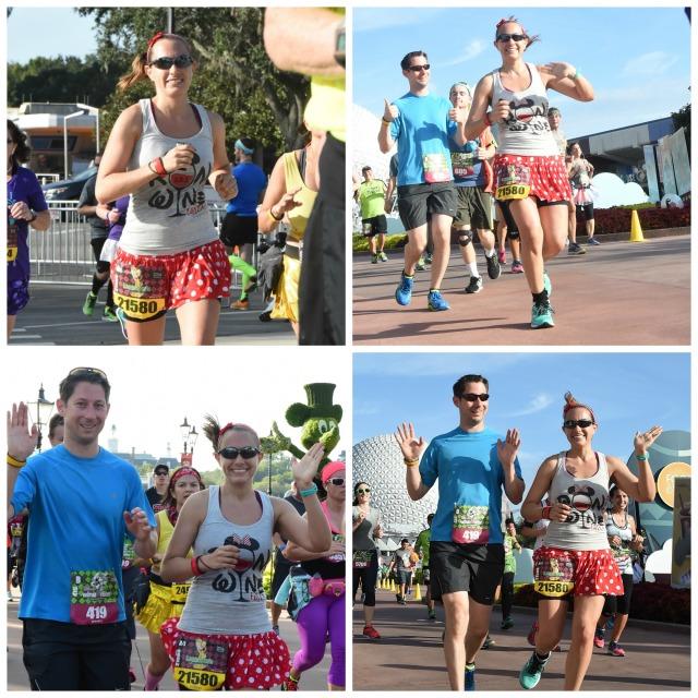 Running through Epcot Photo Credit: Disney PhotoPass