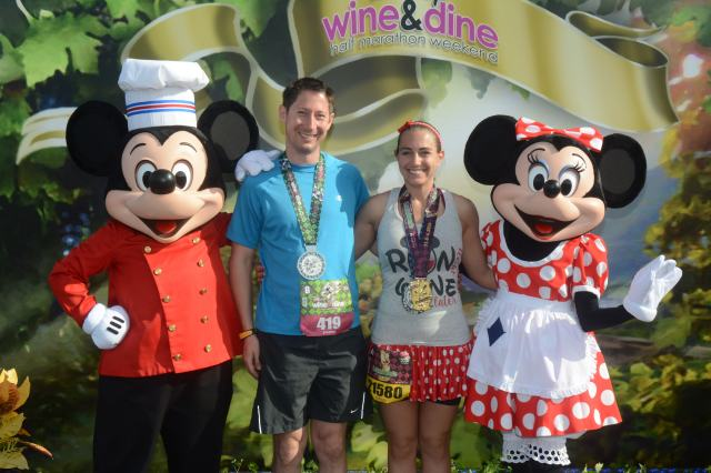 Post race with Chef Mickey and Chef Minnie Photo Credit: Disney PhotoPass