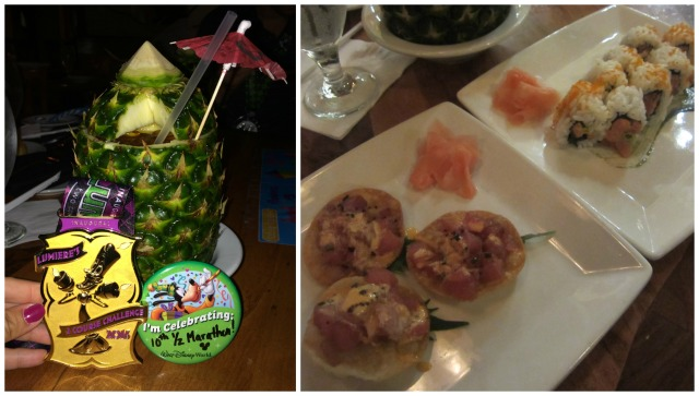 A Lapu Lapu and some sushi was the perfect meal to celebrate with