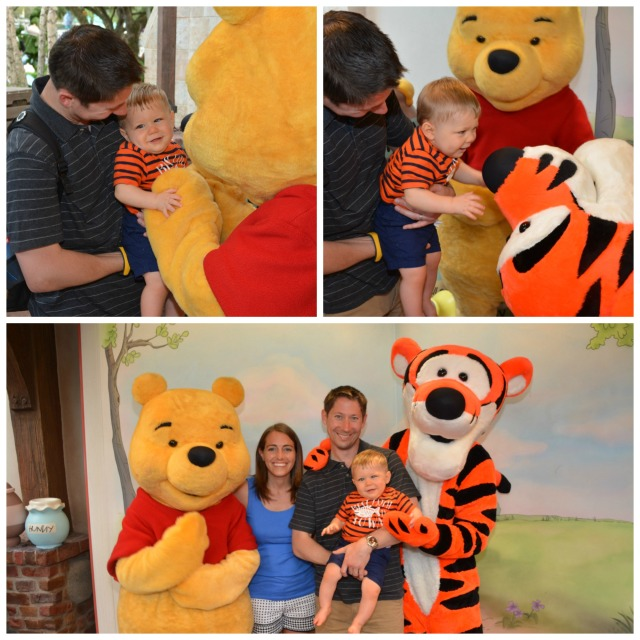 Having fun with our friends from the Hundred Acre Wood