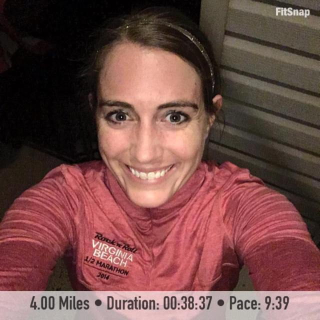 It felt great to finish out January with 4 strong miles.