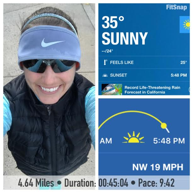 Not only was it windy for Thursday's run it was also cold. Is it Spring yet?!?