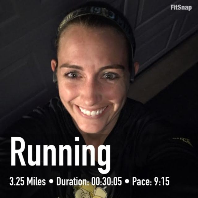Feeling great after a very strong run at the end of a stressful day