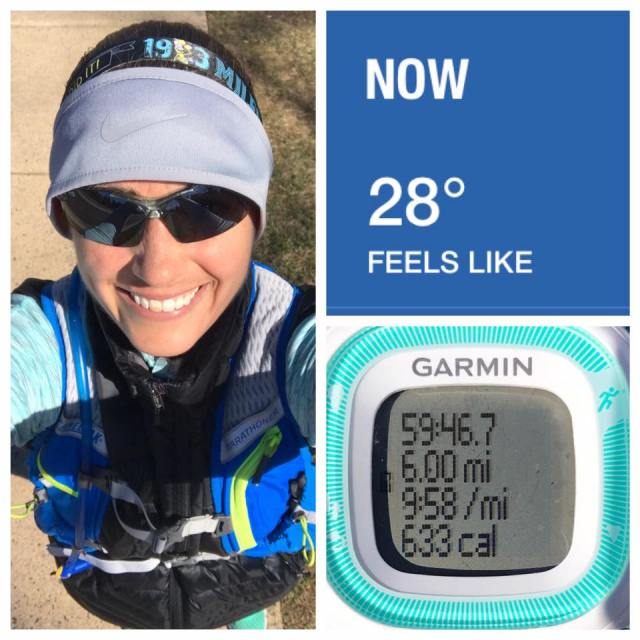 Despite the cold air, I felt great during my last long run for this training cycle.
